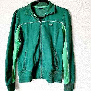 Le Tigre Green Zip Up Classic Track Suit Jacket